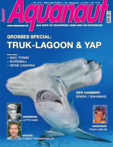 Die Aquanaut-Ausgabe März / April 2015.