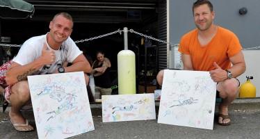 dive and paint – Bilder der Benefiz-Aktion werden jetzt versteigert