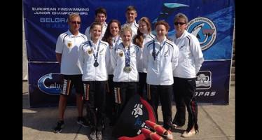 VDST-Jugend erfolgreich bei Finswimming-Meisterschaft