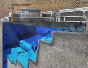 Blue Abyss tiefester Pool der Welt